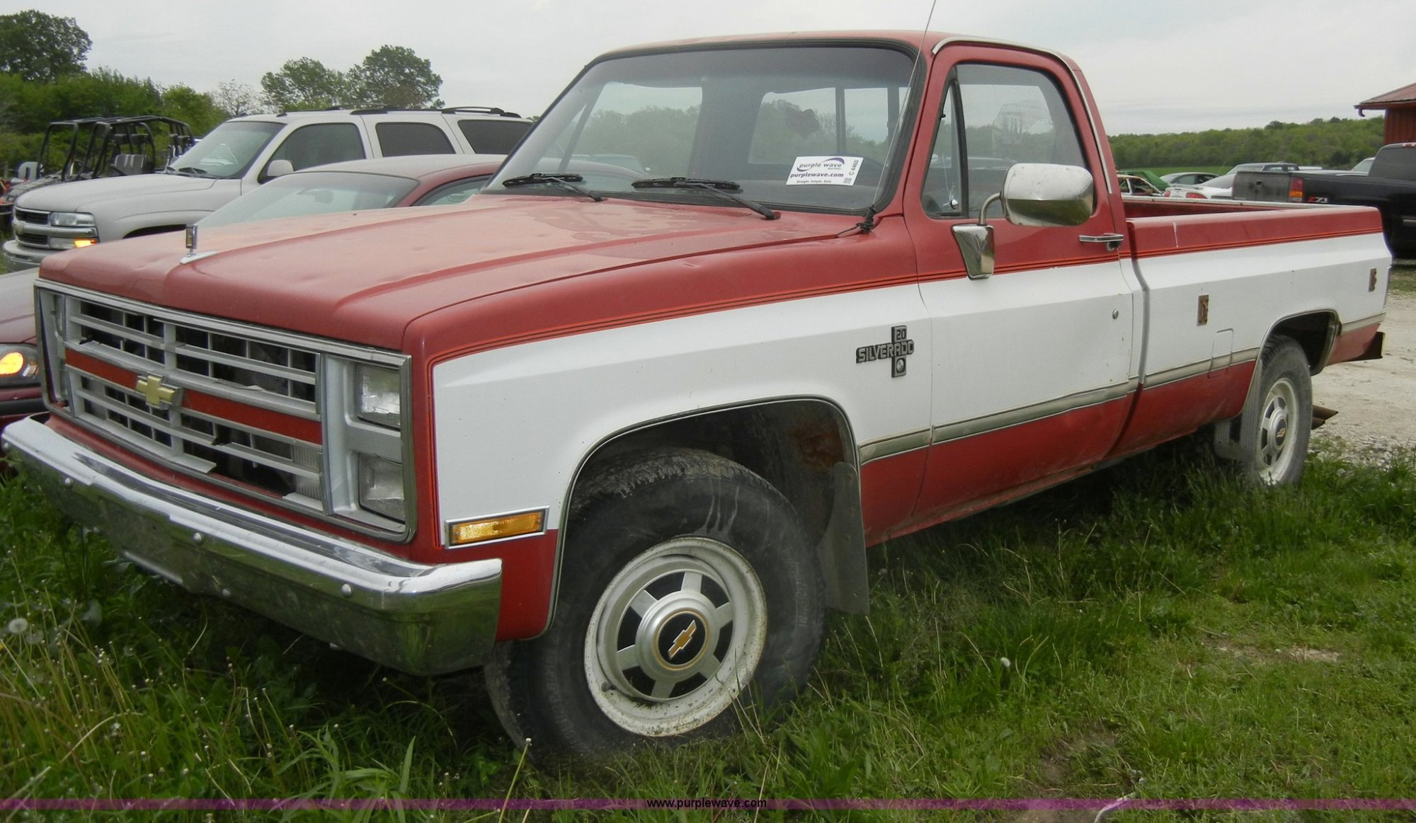 hight resolution of c4460 image for item c4460 1987 chevrolet silverado r20 pickup truck