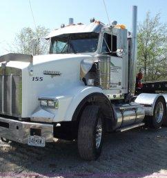 b6326 image for item b6326 1999 kenworth t800 triple axle semi truck [ 2048 x 1679 Pixel ]