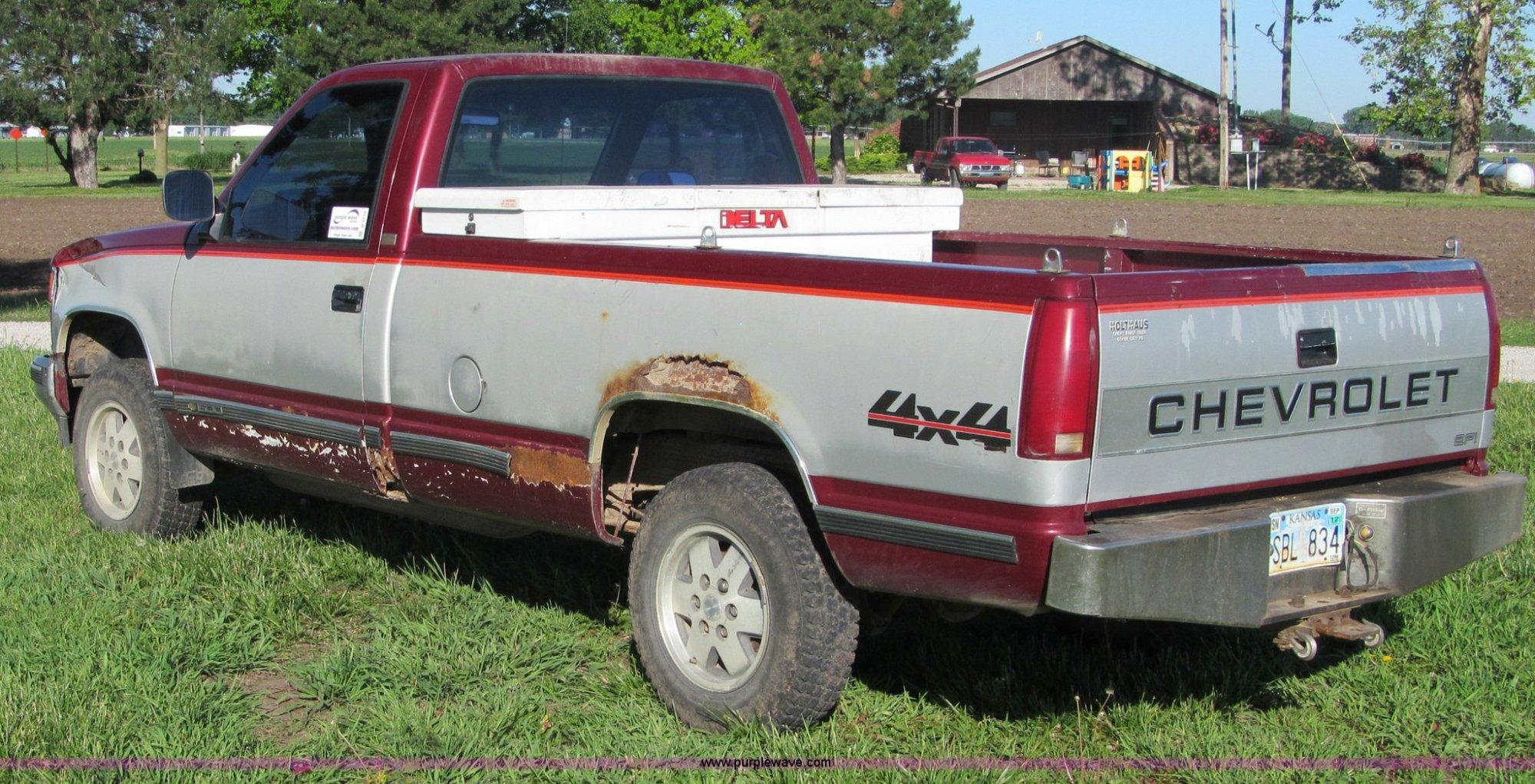 hight resolution of  1989 chevrolet 1500 silverado pickup truck full size in new window