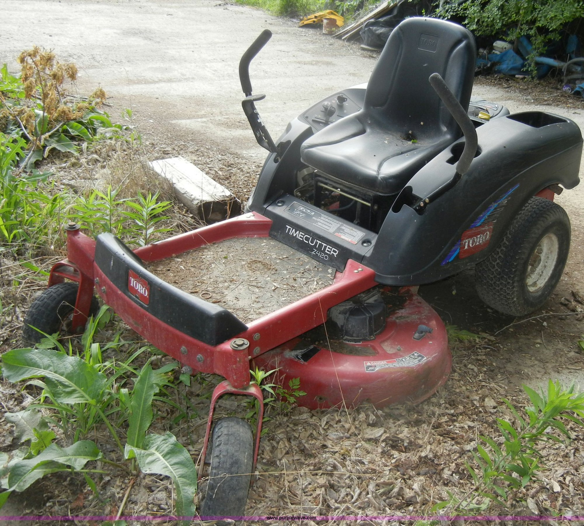 hight resolution of  array time cutter z420 ztr mower item m9520 sold may 30 midwe rh purplewave com