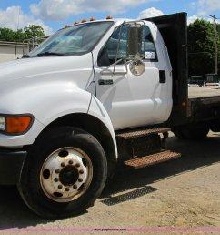b2709 image for item b2709 2004 ford f650 xl super duty flat bed truck [ 2048 x 1240 Pixel ]