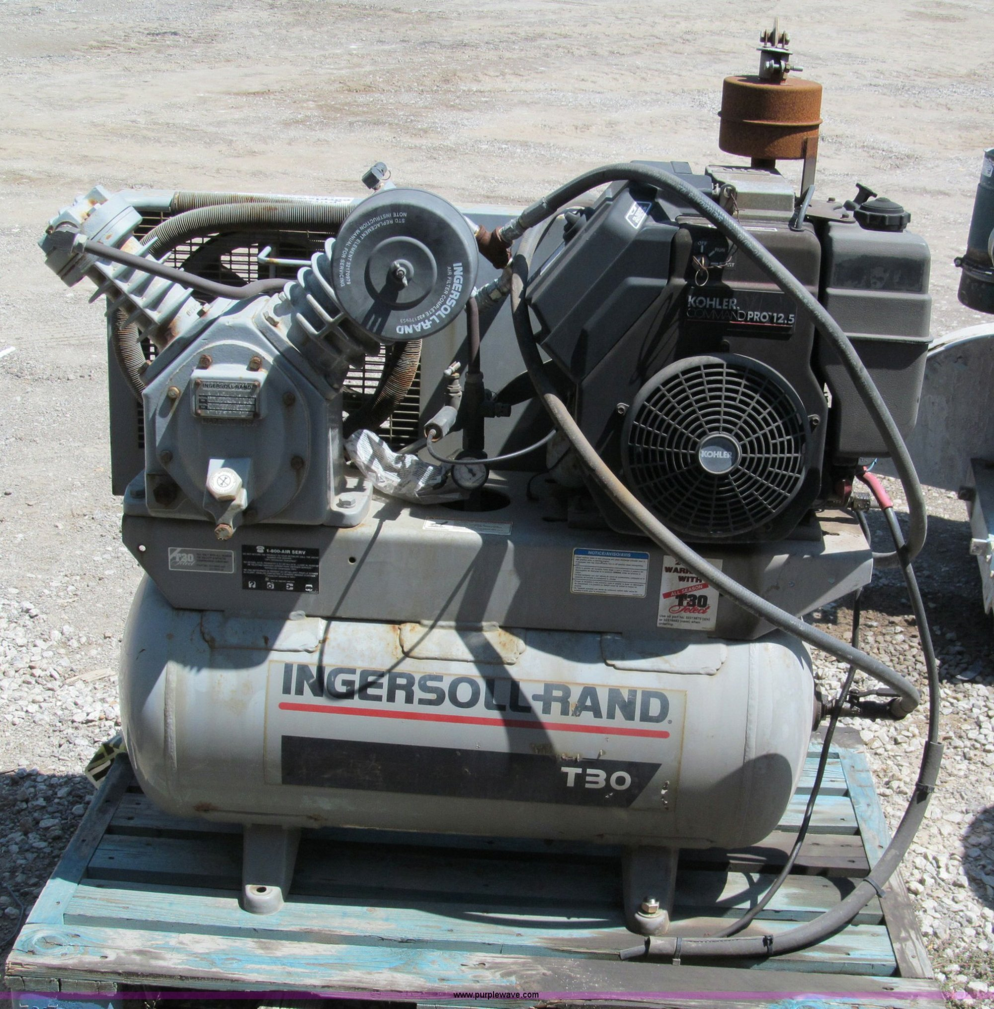 hight resolution of e2050 image for item e2050 ingersoll rand t30 air compressor