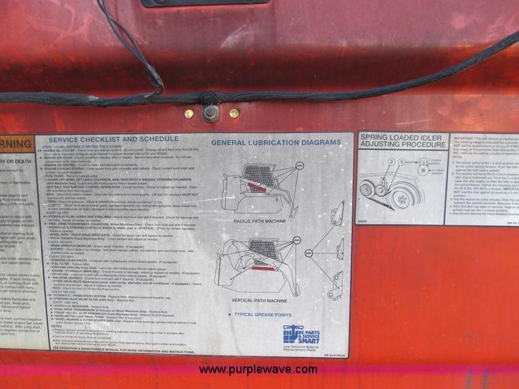 2004 bobcat s185 turbo skid steer item e3508 sold! thurs - bobcat s185  wiring diagram