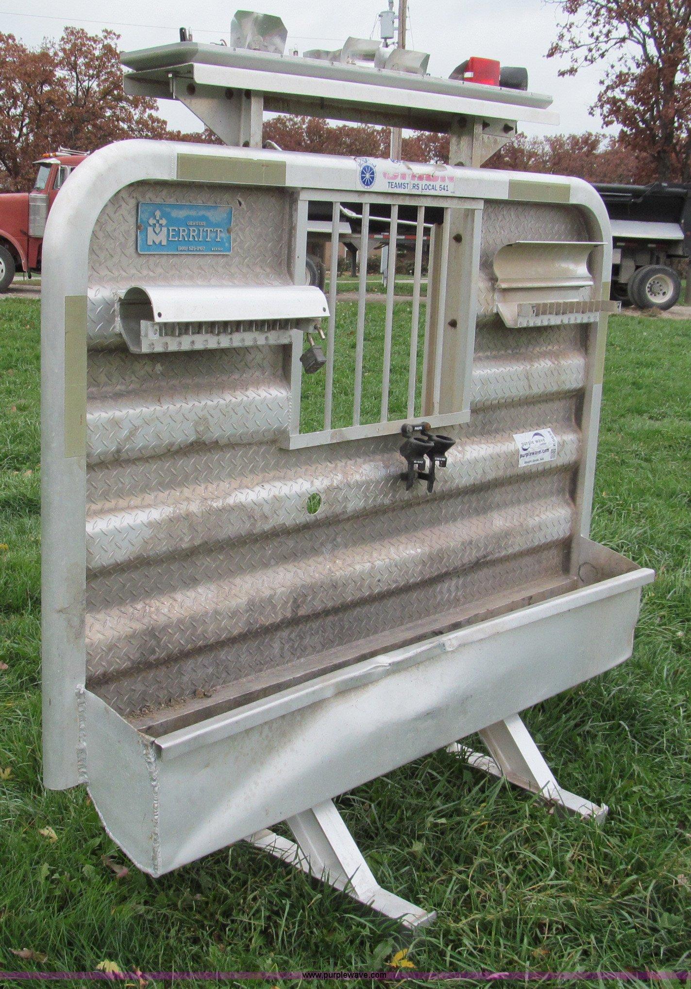 Merritt aluminum headache rack for semi truck