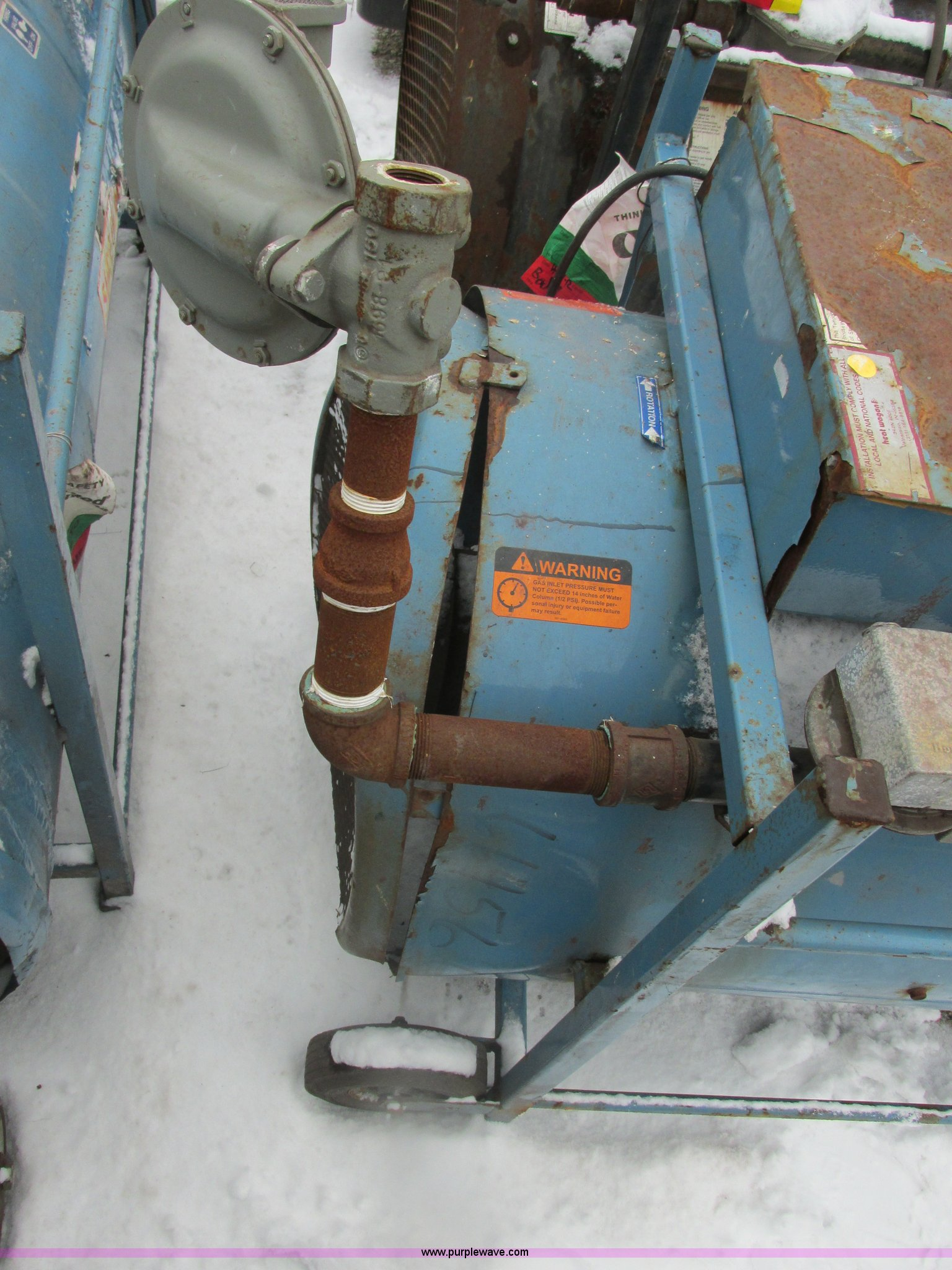 Heat Wagon S Natural Gas Direct Fired Heater