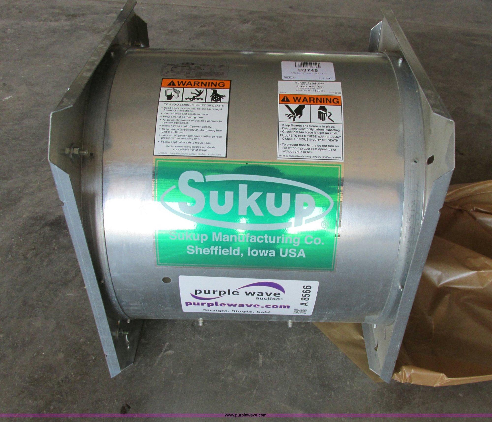 hight resolution of 2 4 array sukup grain bin fan item a8566 sold july 10 ag equipmen rh sukup parts manual