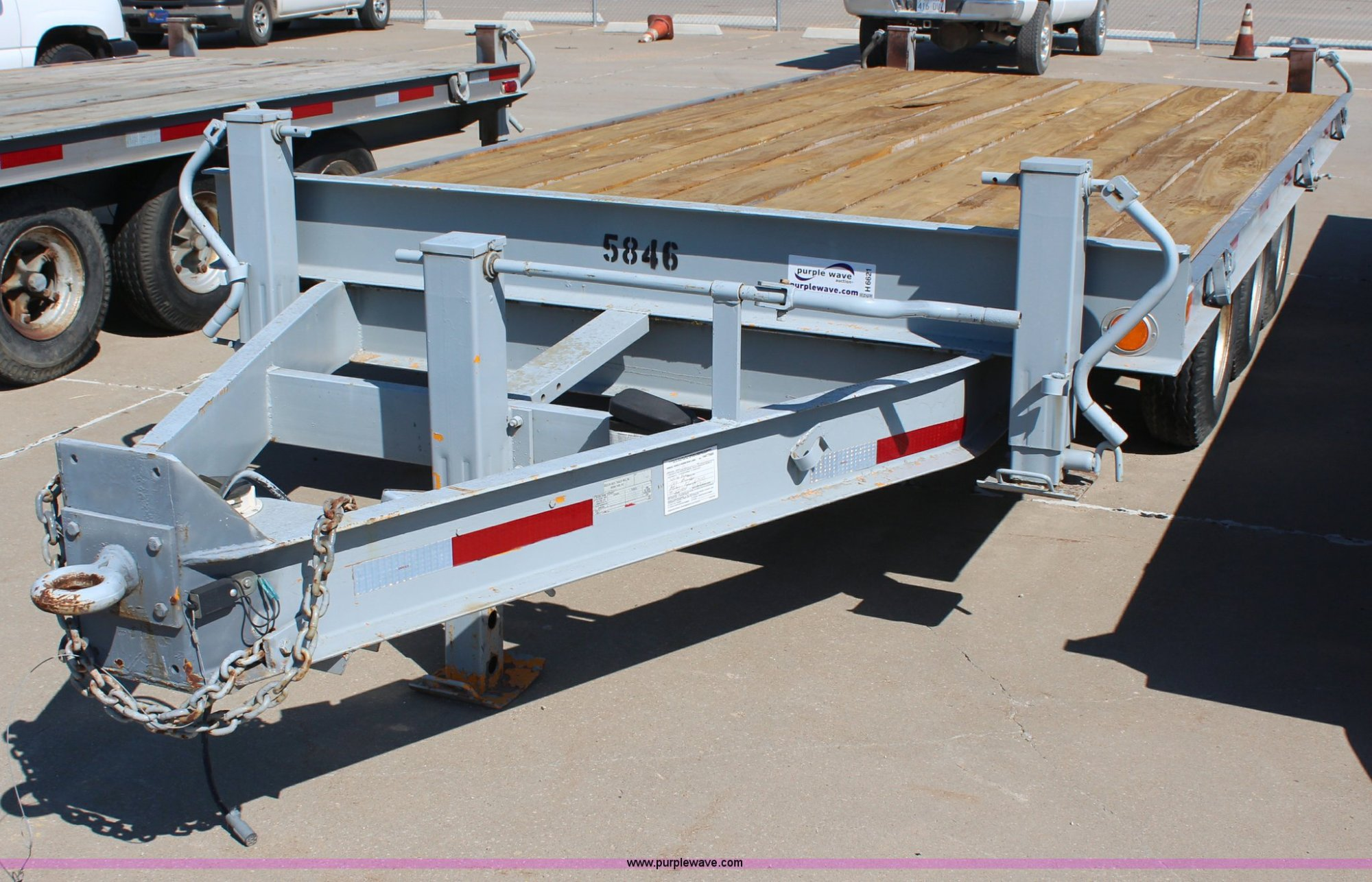 hight resolution of 1989 hudson triple axle flatbed trailer for sale in kansas