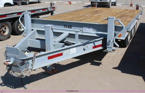 small resolution of 1989 hudson triple axle flatbed trailer for sale in kansas