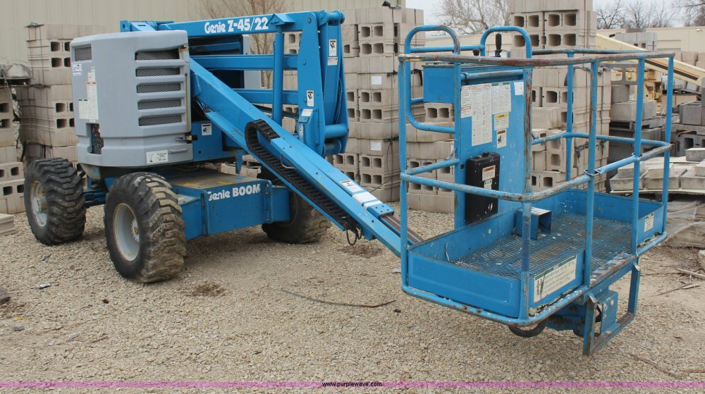 medium resolution of h6241 image for item h6241 1995 genie z45 22 boom lift