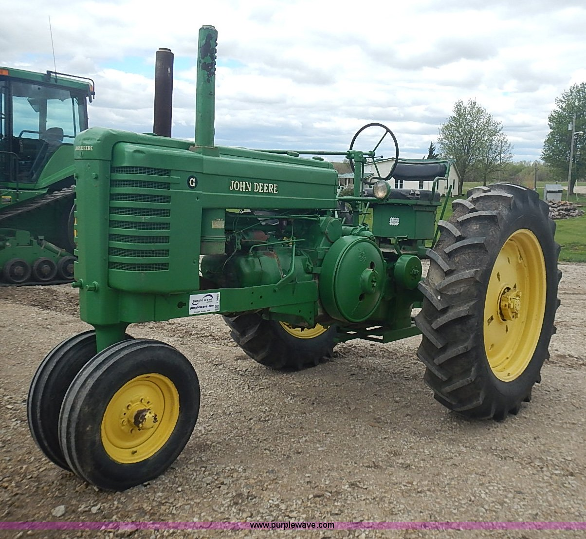 john deere g tractor for sale 2001 chevy malibu radio wiring diagram 1947 item i3665 sold may 28 ag equ in kansas
