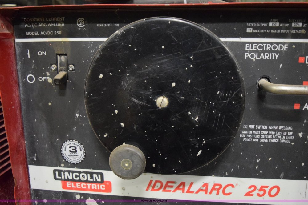 medium resolution of  lincoln idealarc 250 welder full size in new window