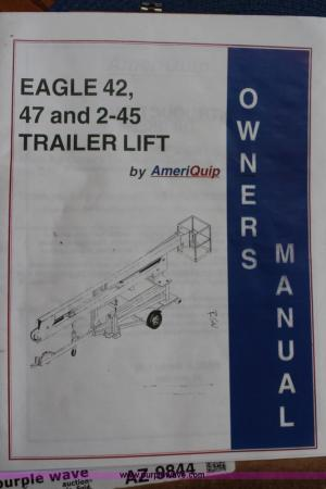 1999 Ameriquip Eagle 42 towable boom lift   Item K6999