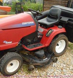bo9994 image for item bo9994 craftsman gt5000 riding mower  [ 1883 x 1335 Pixel ]