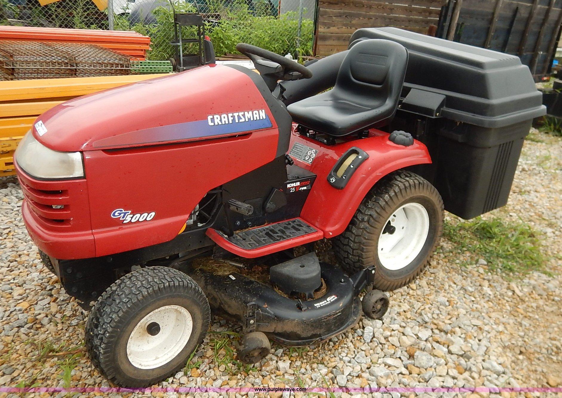 hight resolution of bo9994 image for item bo9994 craftsman gt5000 riding mower