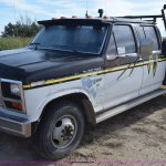 1986 Ford F350 Crew Cab Flatbed Pickup Truck In Towner Ga Item L5003 Sold Purple Wave