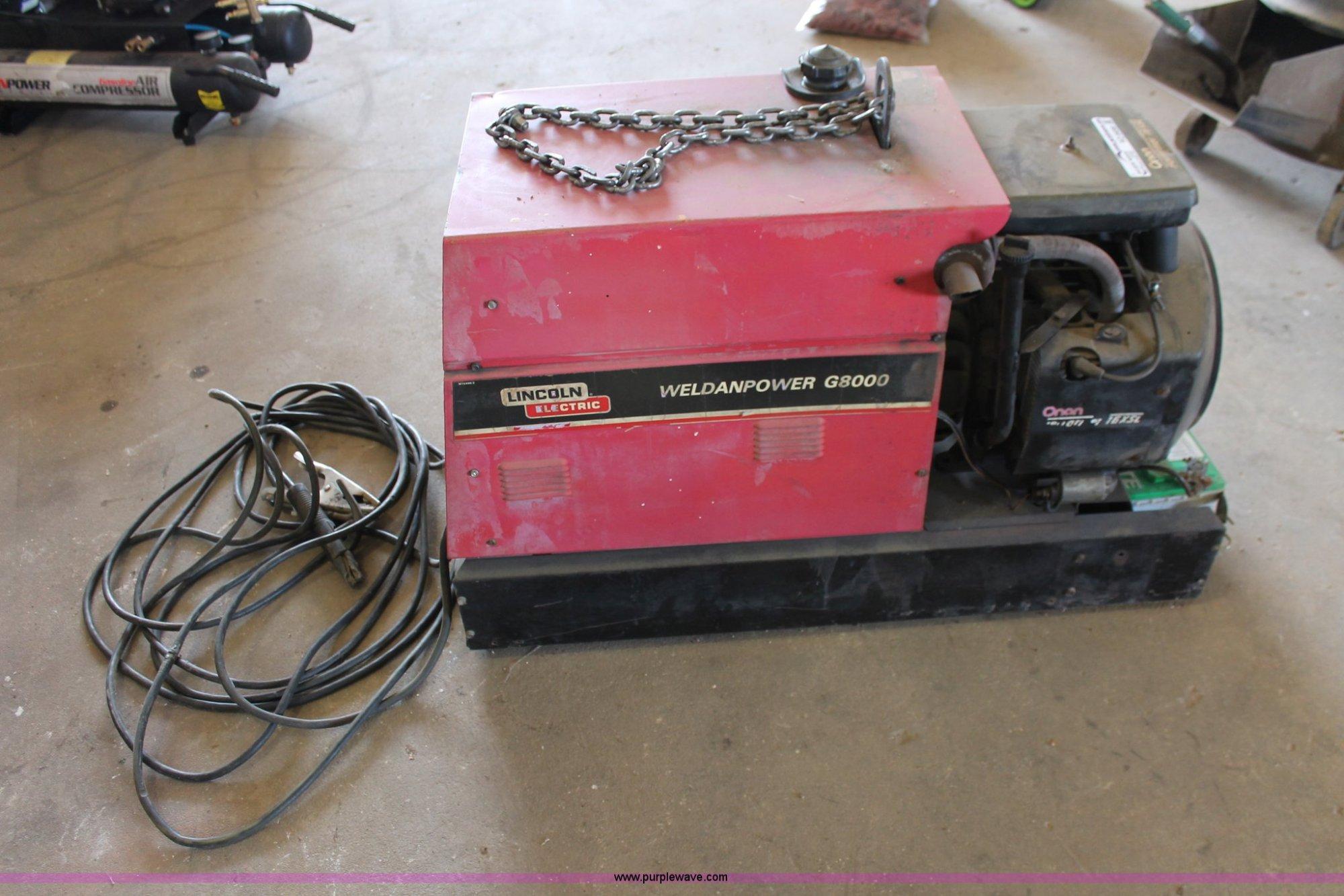 hight resolution of  lincoln lincoln weldanpower g8000 welder generator item ao9456 s on lincoln weldanpower 150