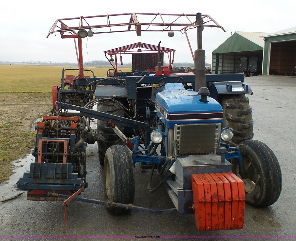 medium resolution of  ford 3910 tractor with brouwer sod harvester full size in new window