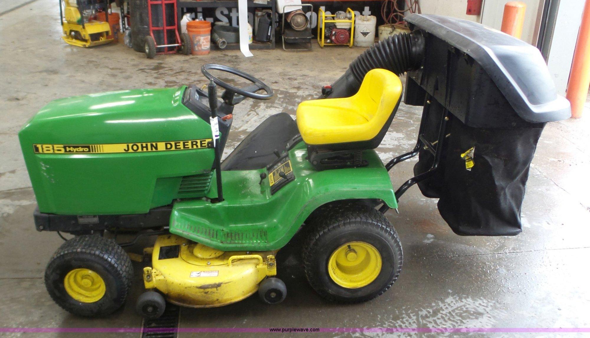 hight resolution of  john deere 185 hydro lawn mower full size in new window