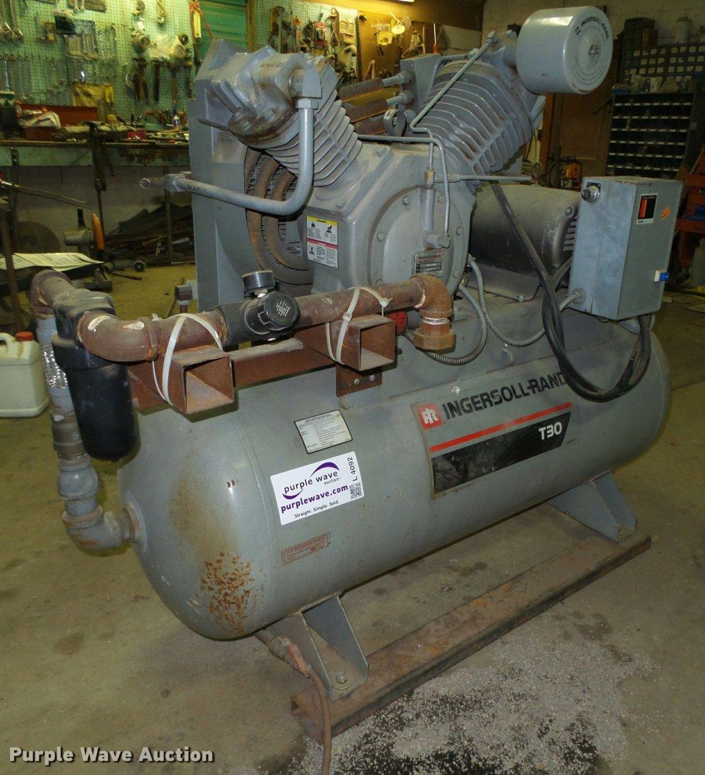 medium resolution of 1993 ingersoll rand t30 air compressor for sale in nebraska