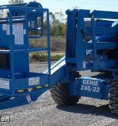 k3454 image for item k3454 1998 genie z45 22 boom lift [ 2037 x 1020 Pixel ]