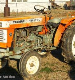 yanmar ym1700 tractor item db2317 sold february 22 ag e yanmar ym 1700 tractor wiring diagram [ 2048 x 1430 Pixel ]