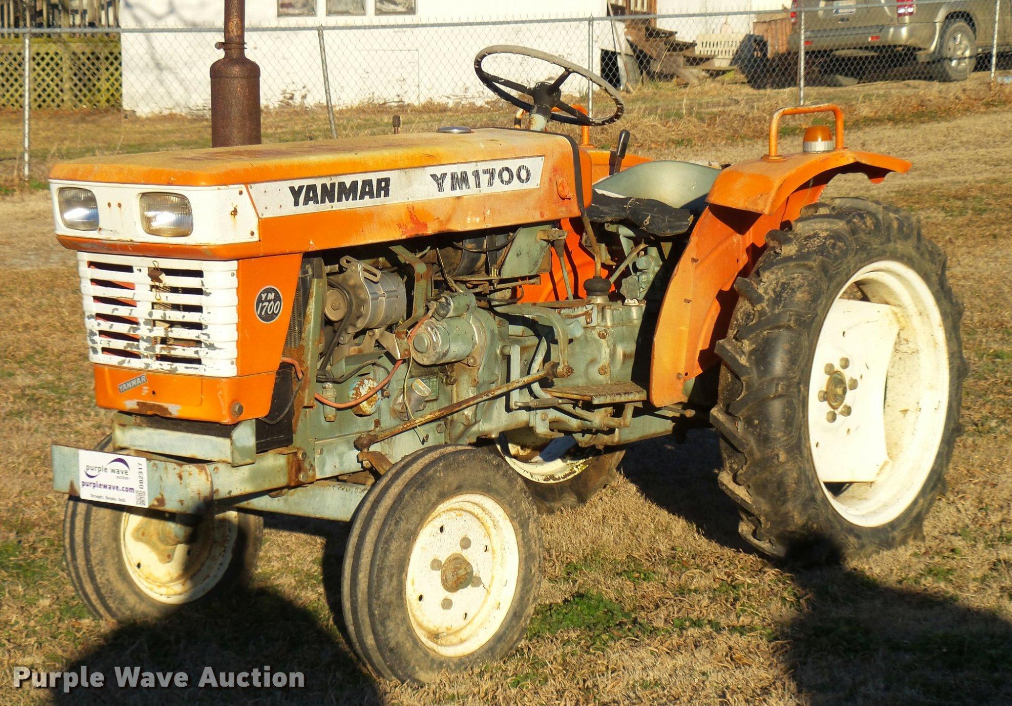 hight resolution of yanmar ym1700 tractor item db2317 sold february 22 ag e yanmar ym 1700 tractor wiring diagram