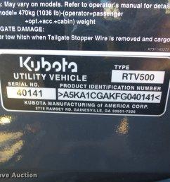 kubota rtv500 utility vehicle full size in new window [ 2048 x 1536 Pixel ]