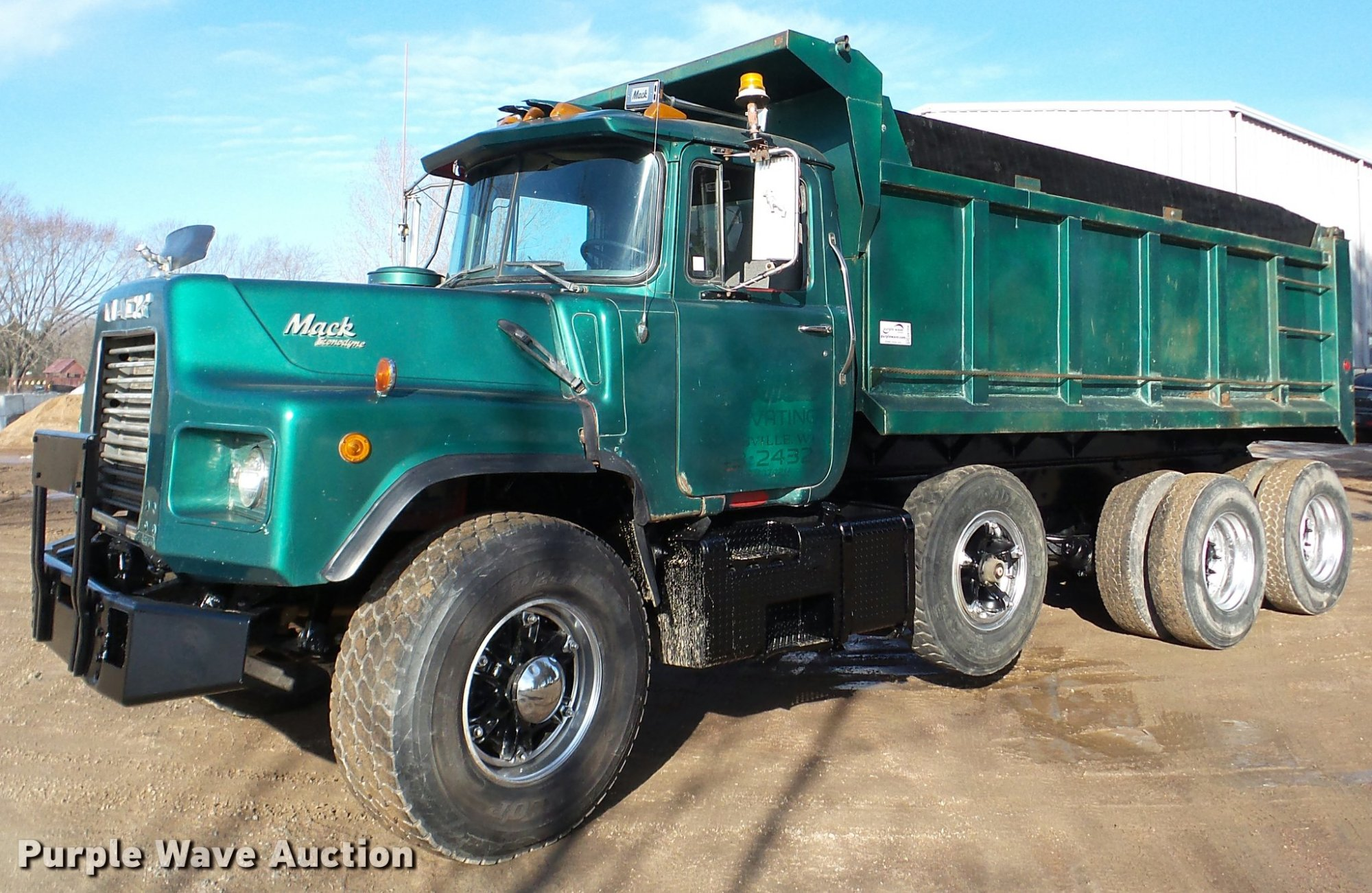 hight resolution of da7354 image for item da7354 1989 mack dm688s dump truck