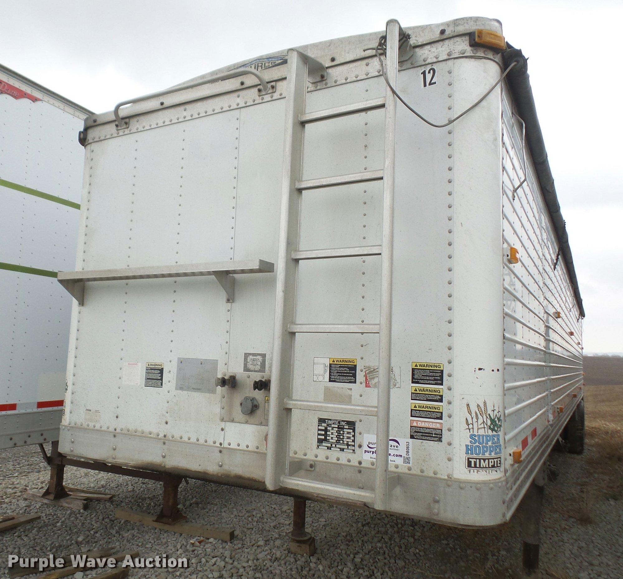 hight resolution of 1999 timpte super hopper double hopper grain trailer for sale in kansas
