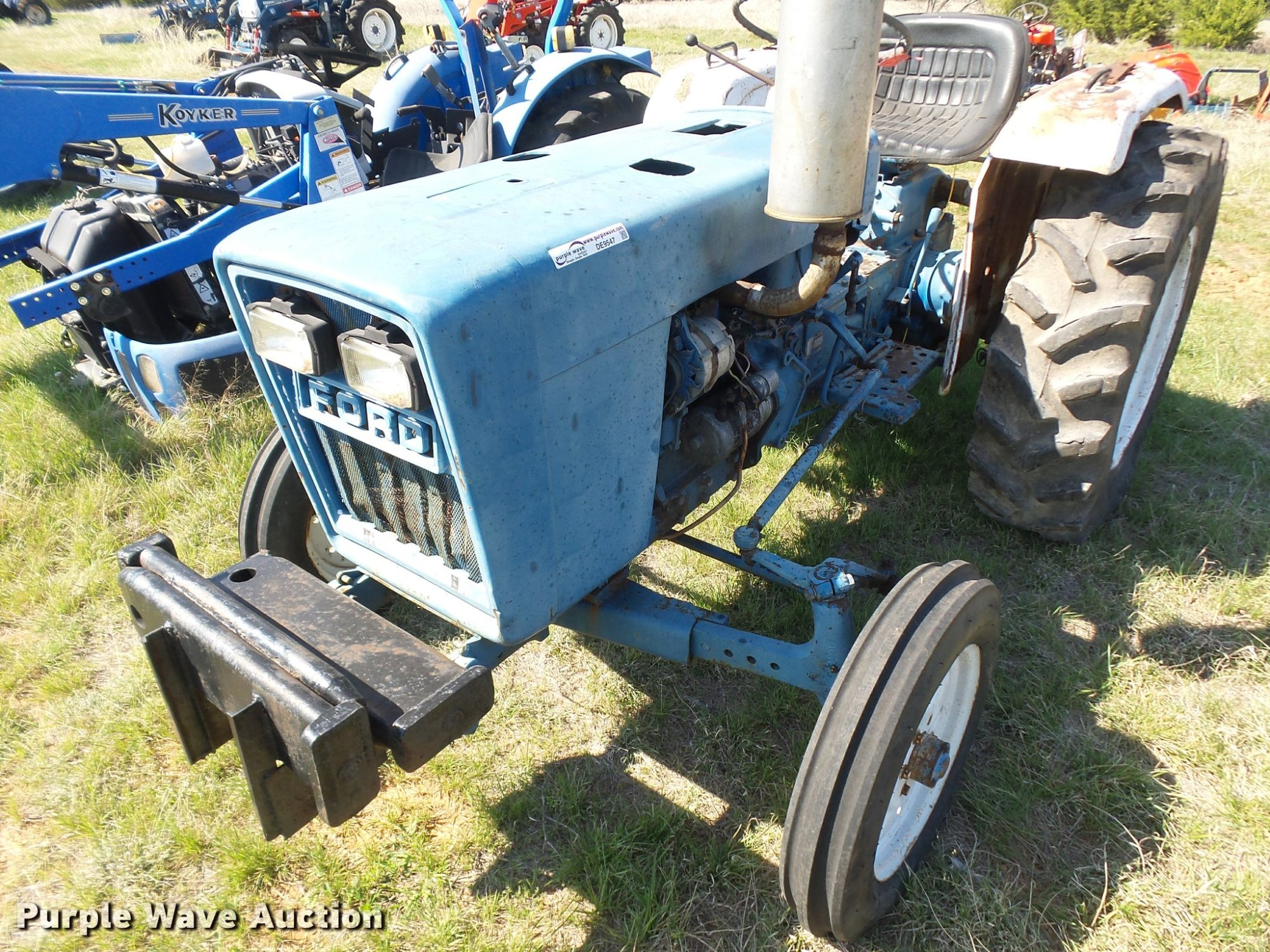 hight resolution of de9547 image for item de9547 ford f 1700 tractor
