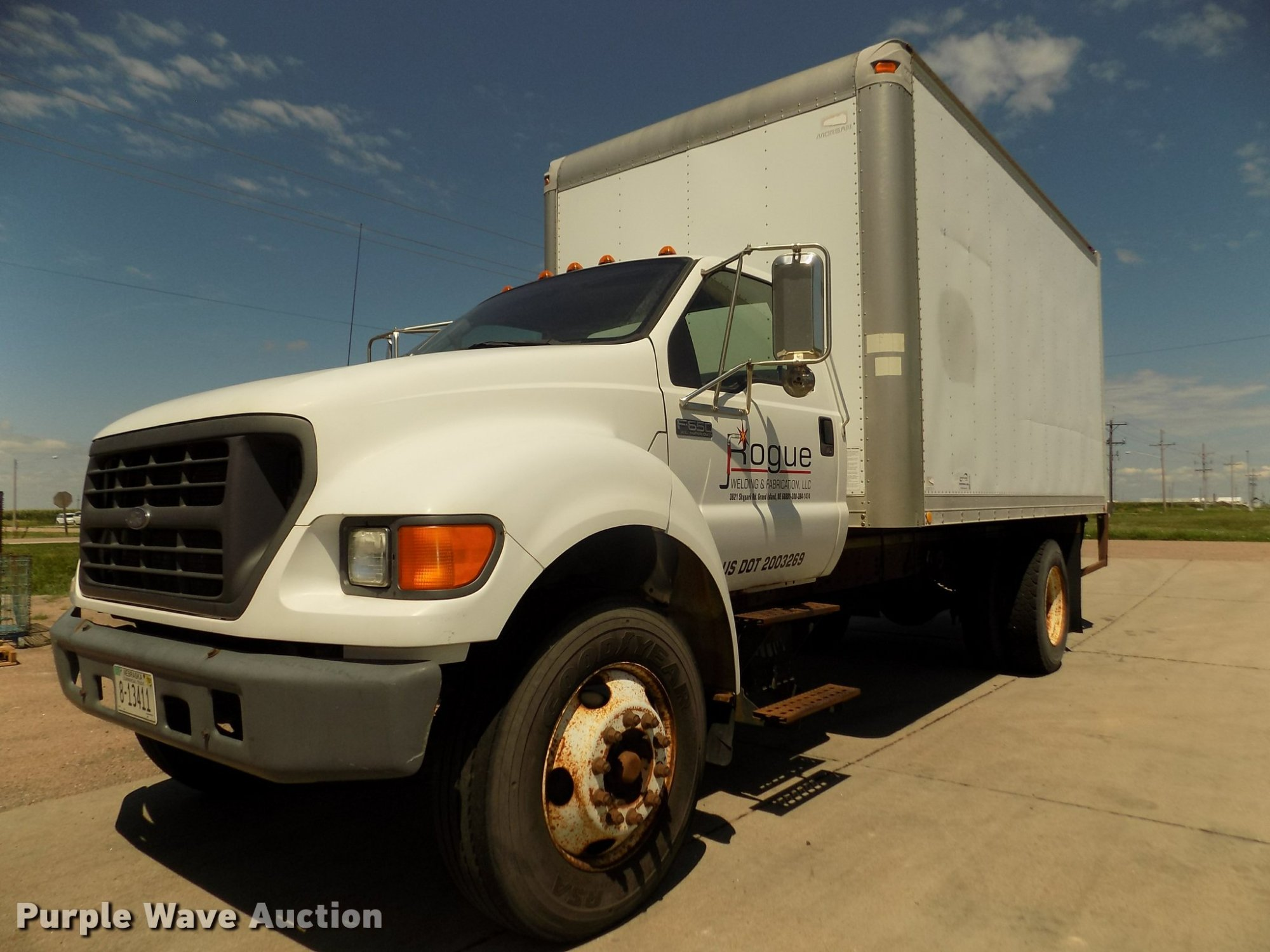 hight resolution of da3067 image for item da3067 2000 ford f650 super duty xl box truck