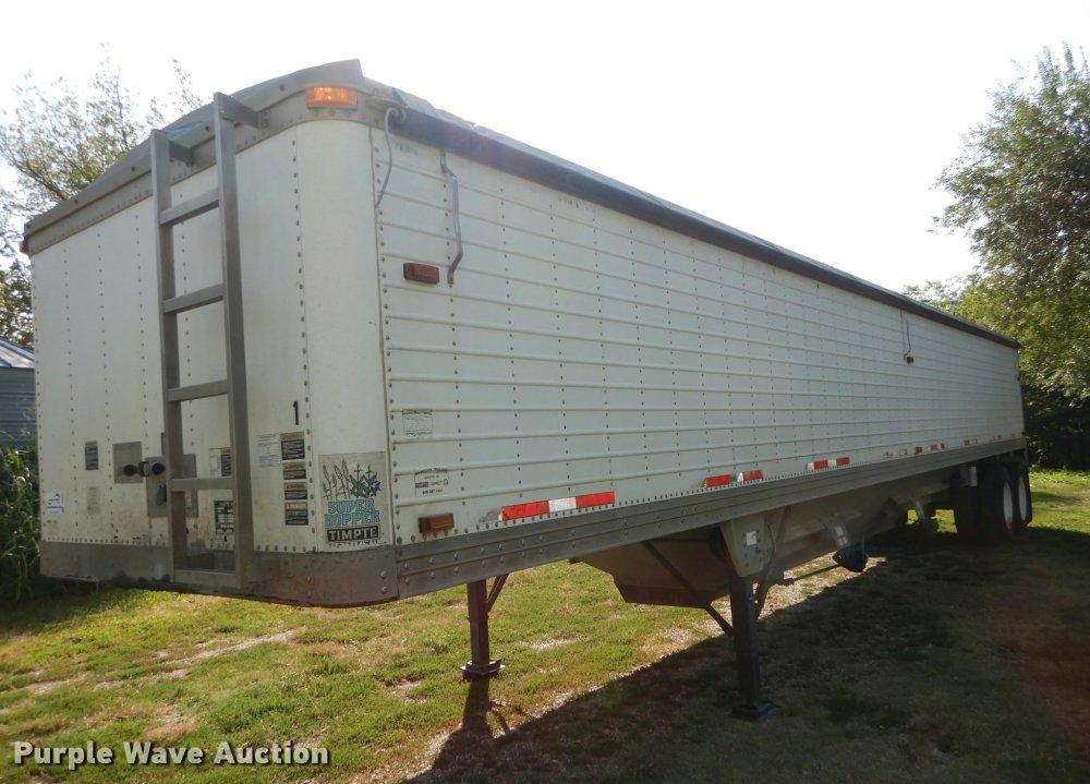 medium resolution of 1999 timpte super double hopper grain trailer for sale in kansas