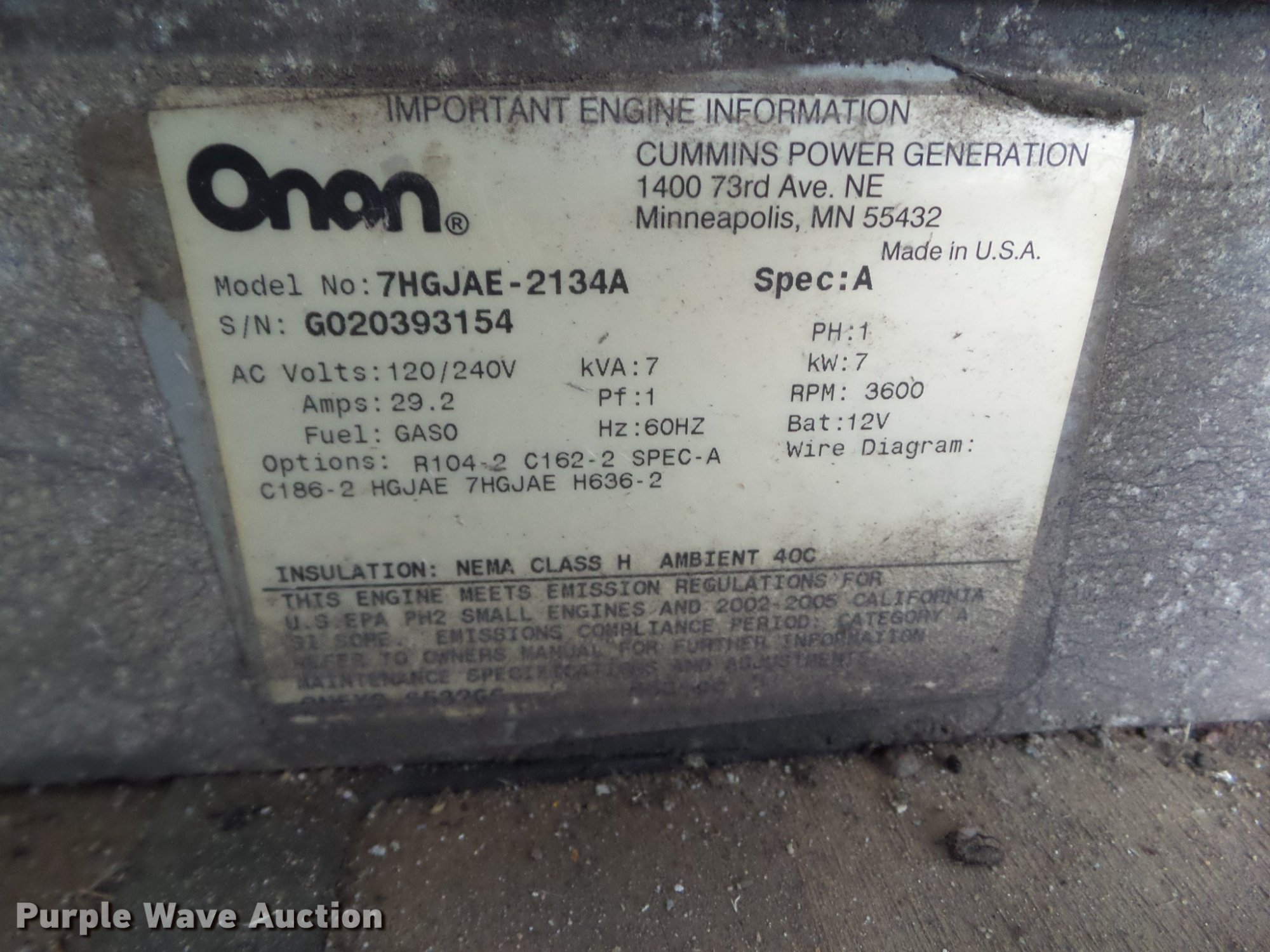 hight resolution of  onan cmm 7000 generator full size in new window