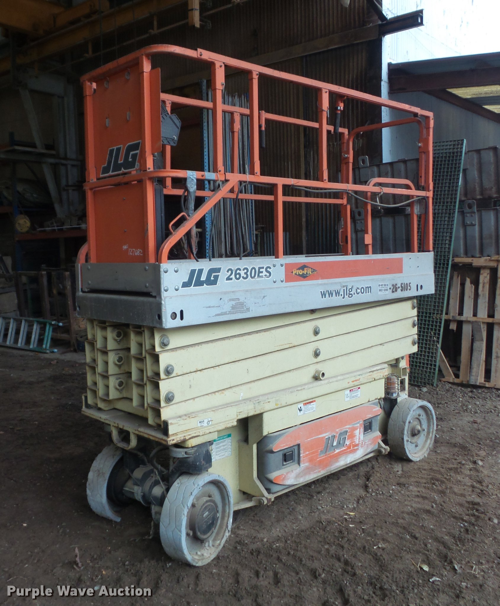 hight resolution of db6384 image for item db6384 2005 jlg 2630es scissor lift