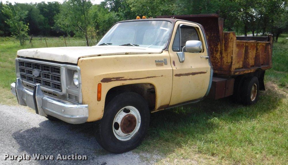 medium resolution of ca9610 image for item ca9610 1978 chevrolet scottsdale c20 dump bed pickup truck