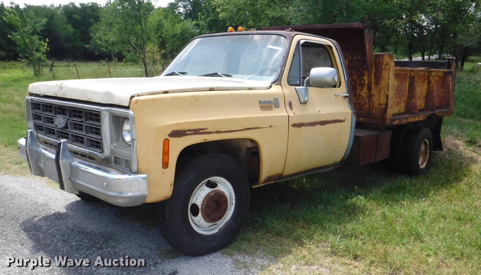 hight resolution of ca9610 image for item ca9610 1978 chevrolet scottsdale c20 dump bed pickup truck