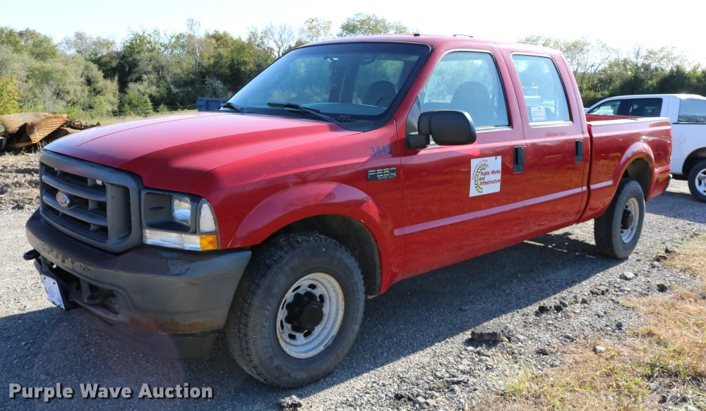 medium resolution of dd0010 image for item dd0010 2004 ford f250 super duty crew cab pickup truck