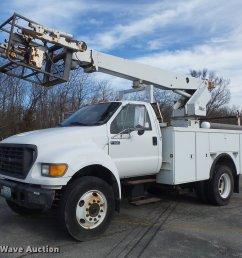 db6269 image for item db6269 2000 ford f650 super duty xl bucket truck [ 2048 x 1690 Pixel ]