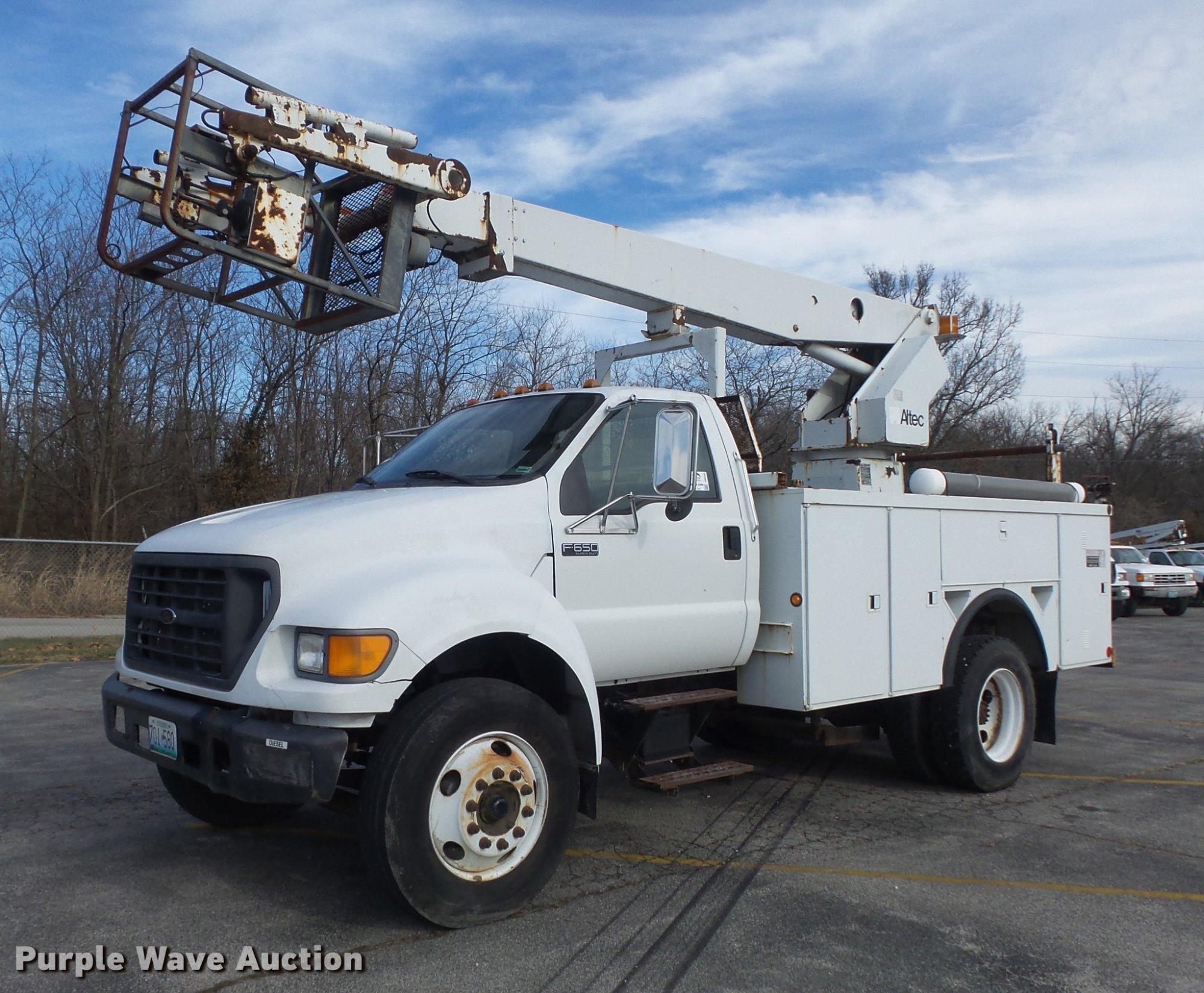 hight resolution of db6269 image for item db6269 2000 ford f650 super duty xl bucket truck