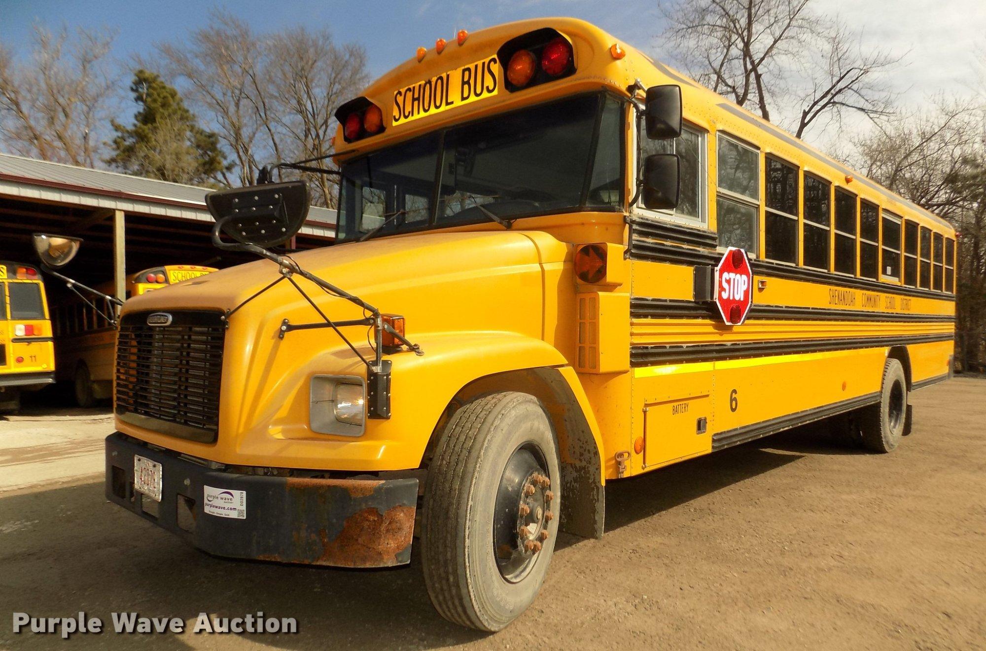 hight resolution of dd2878 image for item dd2878 1999 freightliner fs65 blue bird school bus