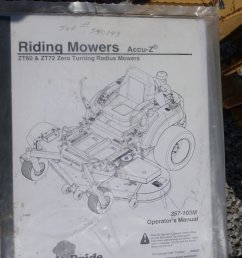 engine diagram murray land pride zt60 lawn mower item de3202 sold april 18 ve  [ 1159 x 2048 Pixel ]
