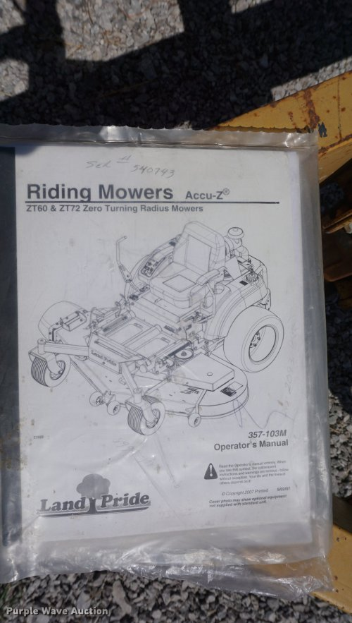 small resolution of  engine diagram murray land pride zt60 lawn mower item de3202 sold april 18 ve