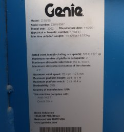 2002 genie z 30 20n boom lift item df3615 sold may 3 cofull size in [ 1365 x 2048 Pixel ]