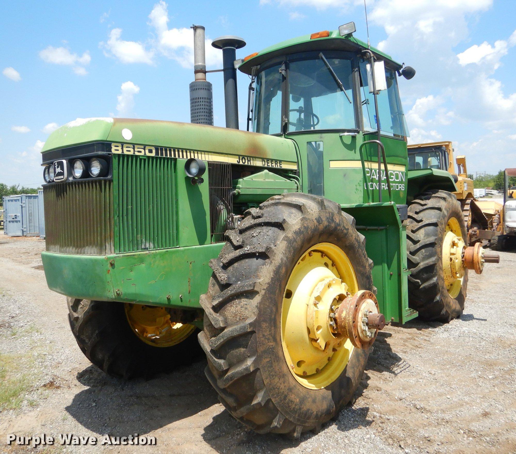 hight resolution of  schematics john deere 8650 4wd tractor item ek9593 sold august 30