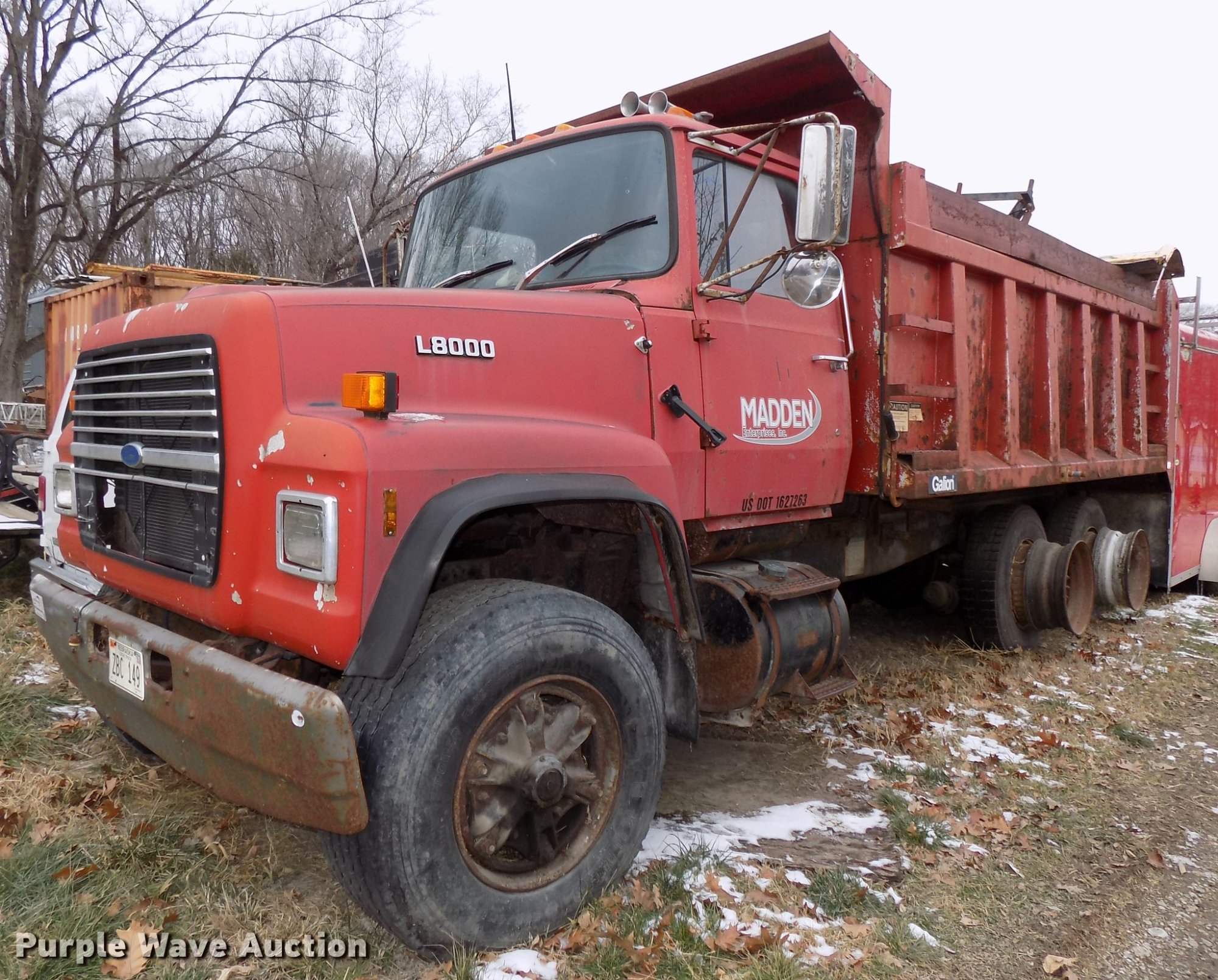 hight resolution of 1987 ford l8000 dump truck for sale in nebraska