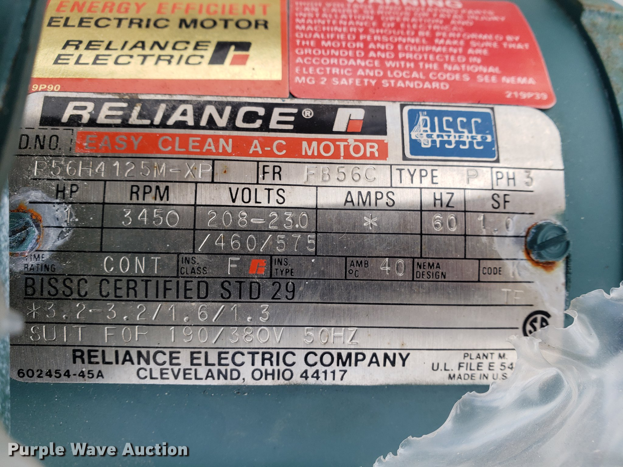 Reliance Electric Company Cleveland Ohio