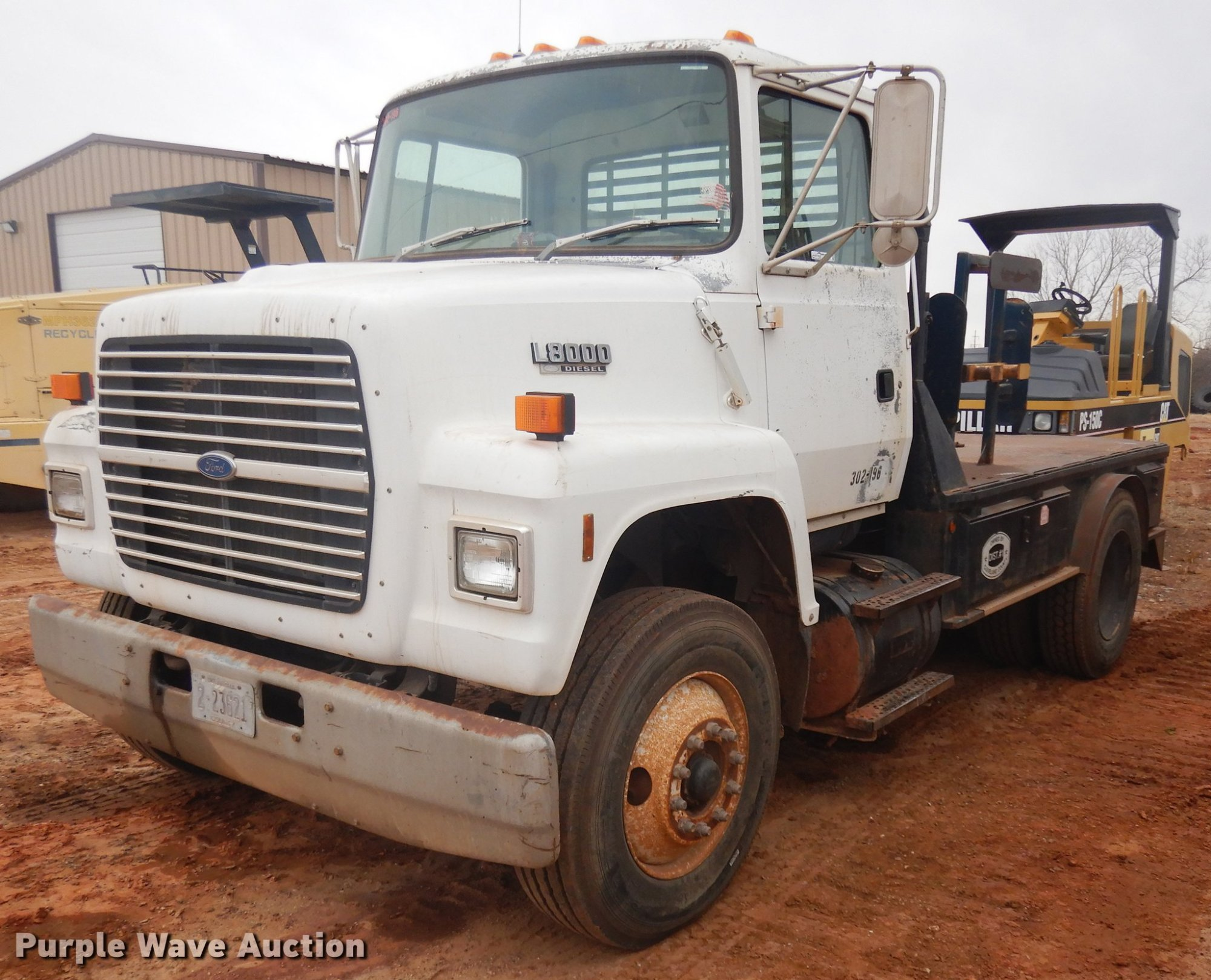 hight resolution of 1991 ford l8000 utility truck for sale in oklahoma