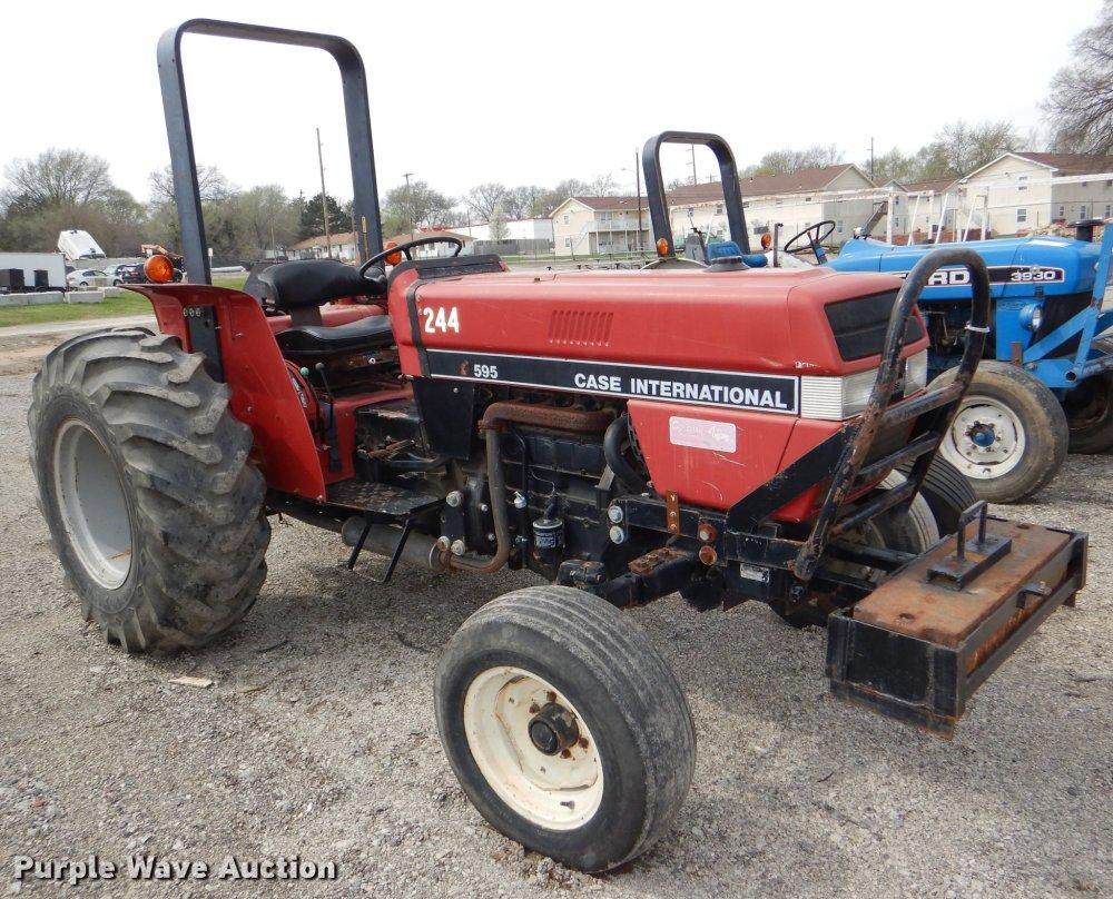 medium resolution of 1993 case ih 595 tractor item dg0962 sold may 7 governmcase ih 595 tractor full