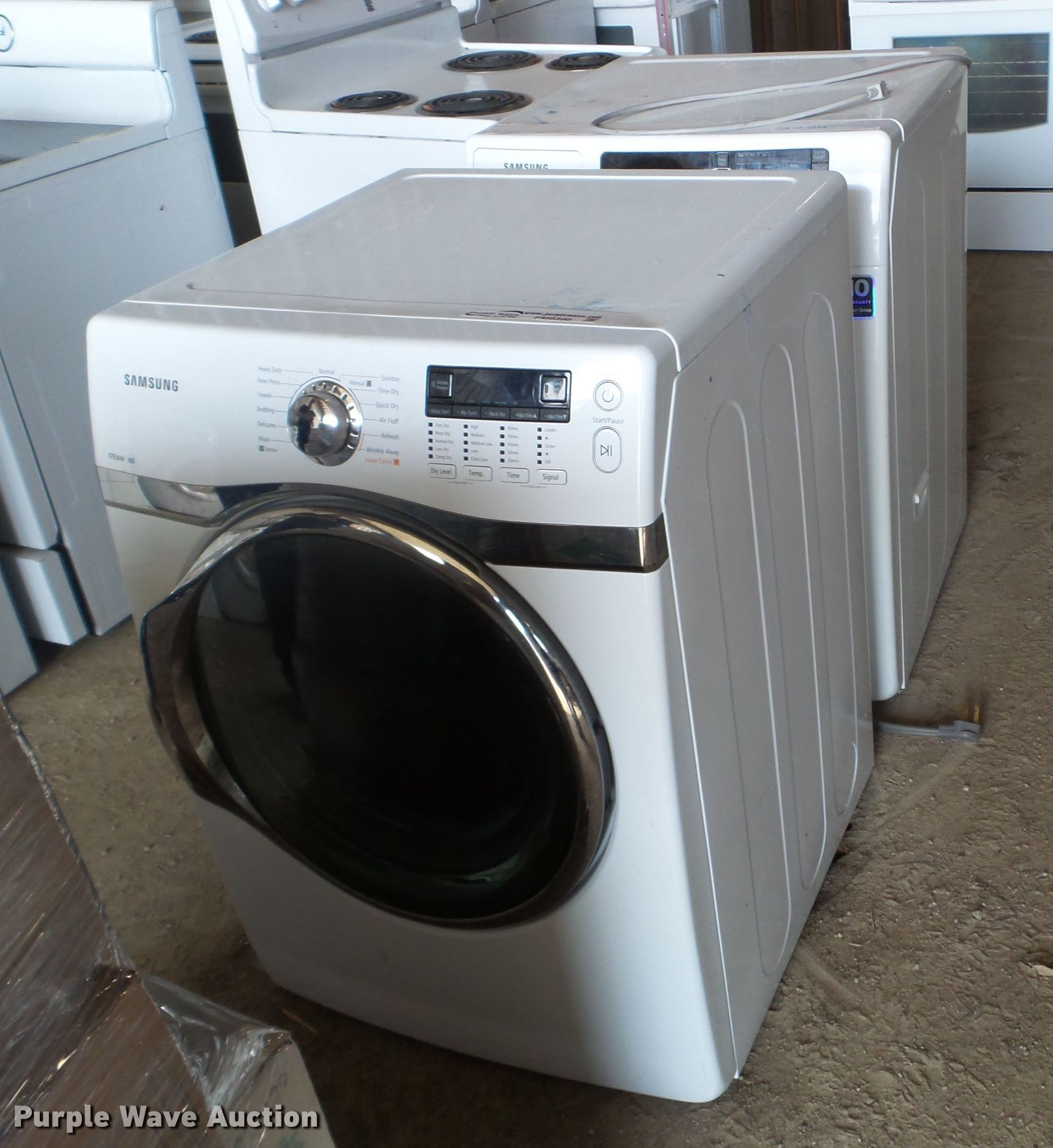 Samsung washer and dryer in Des Moines. IA   Item FM9398 for sale   Purple Wave