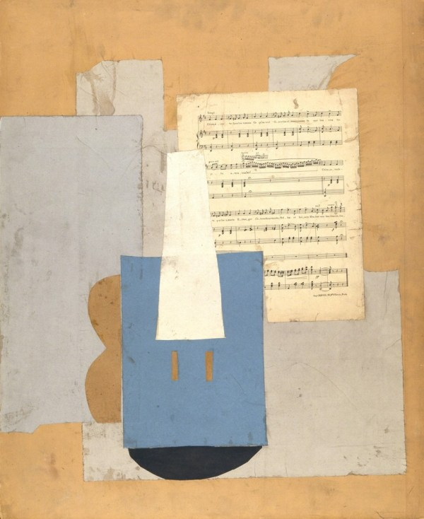 Pablo Picasso Violin With Sheet Of Music Autumn-1912